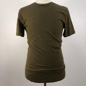 NWT Zara Army Green Long Round Hem T-Shirt